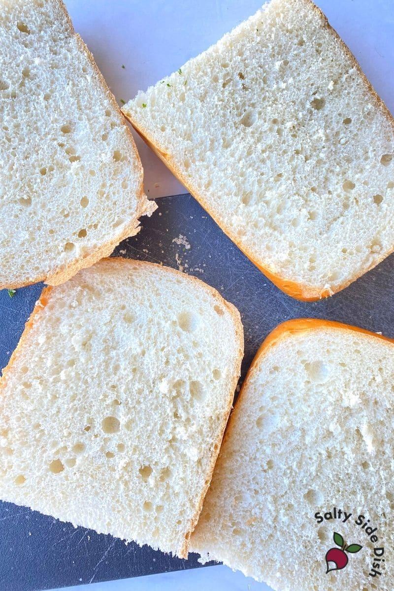 open faced italian bread
