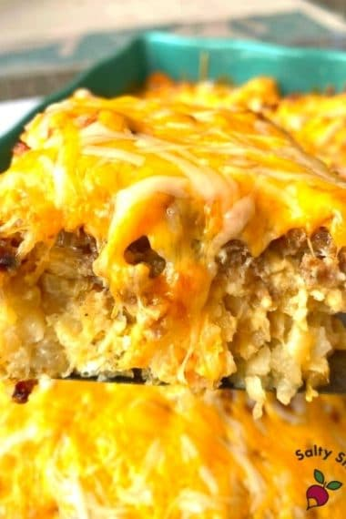 The Cheesiest, Most Mouthwatering Tater Tot Layered Breakfast Casserole EVER!