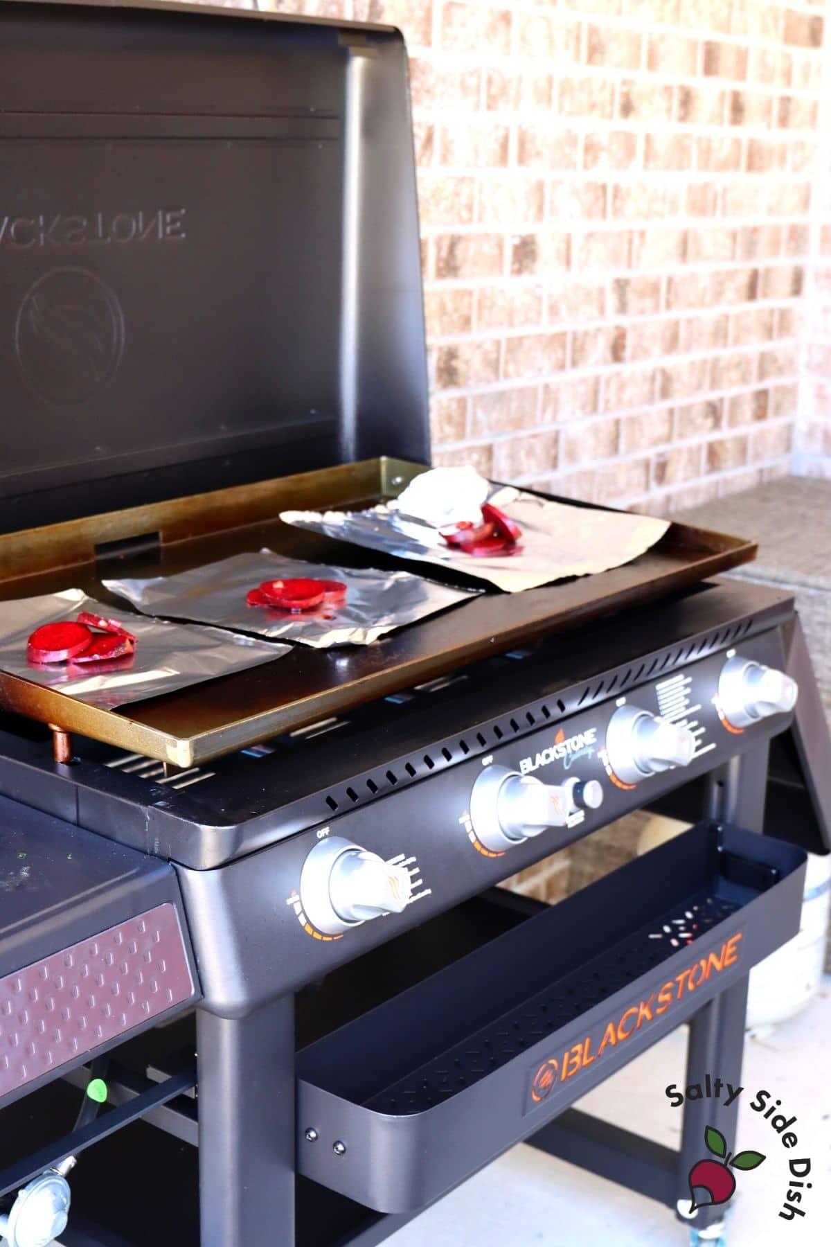 beets on a blackstone flat top grill