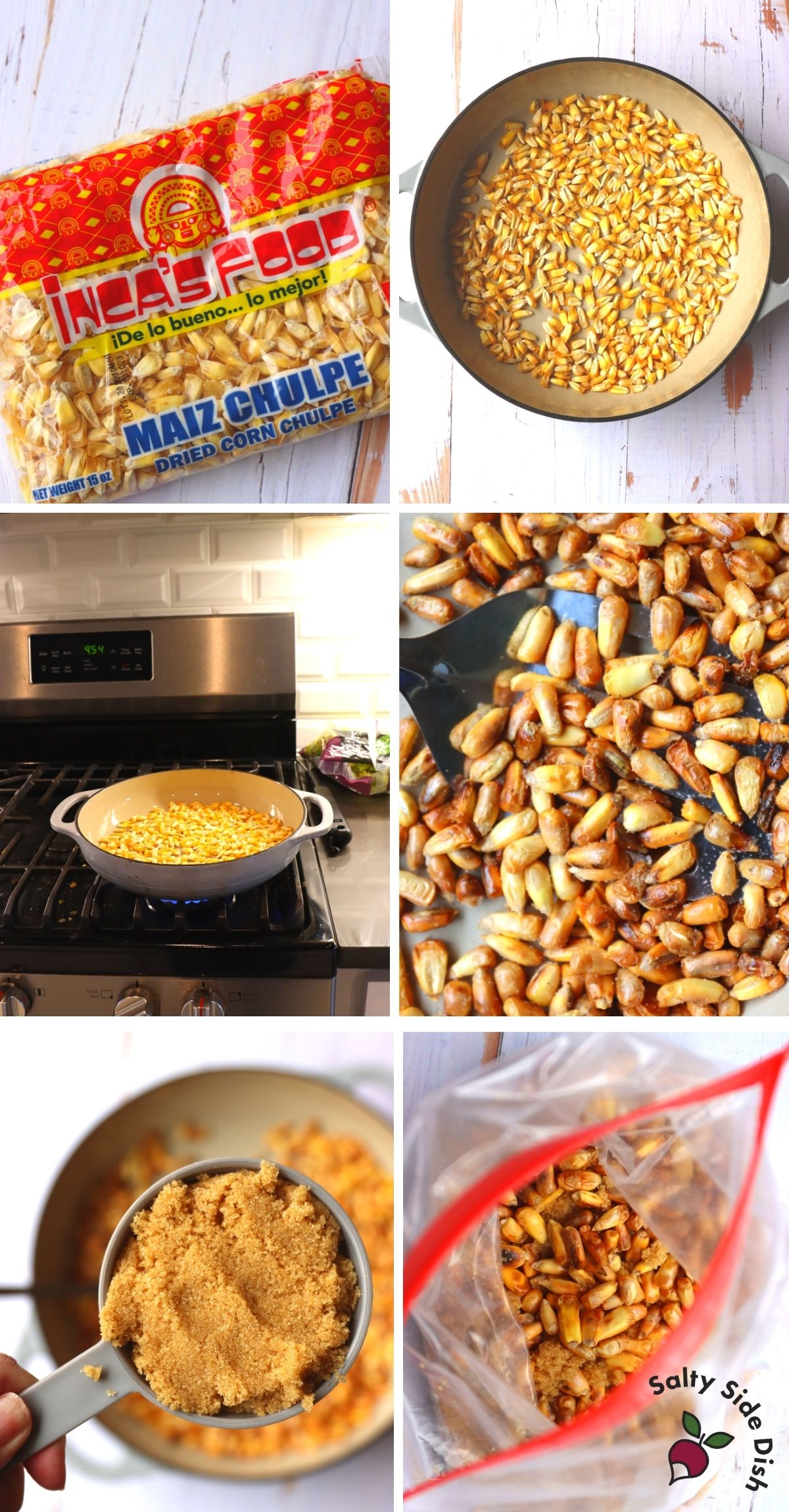 parched corn from dried corn