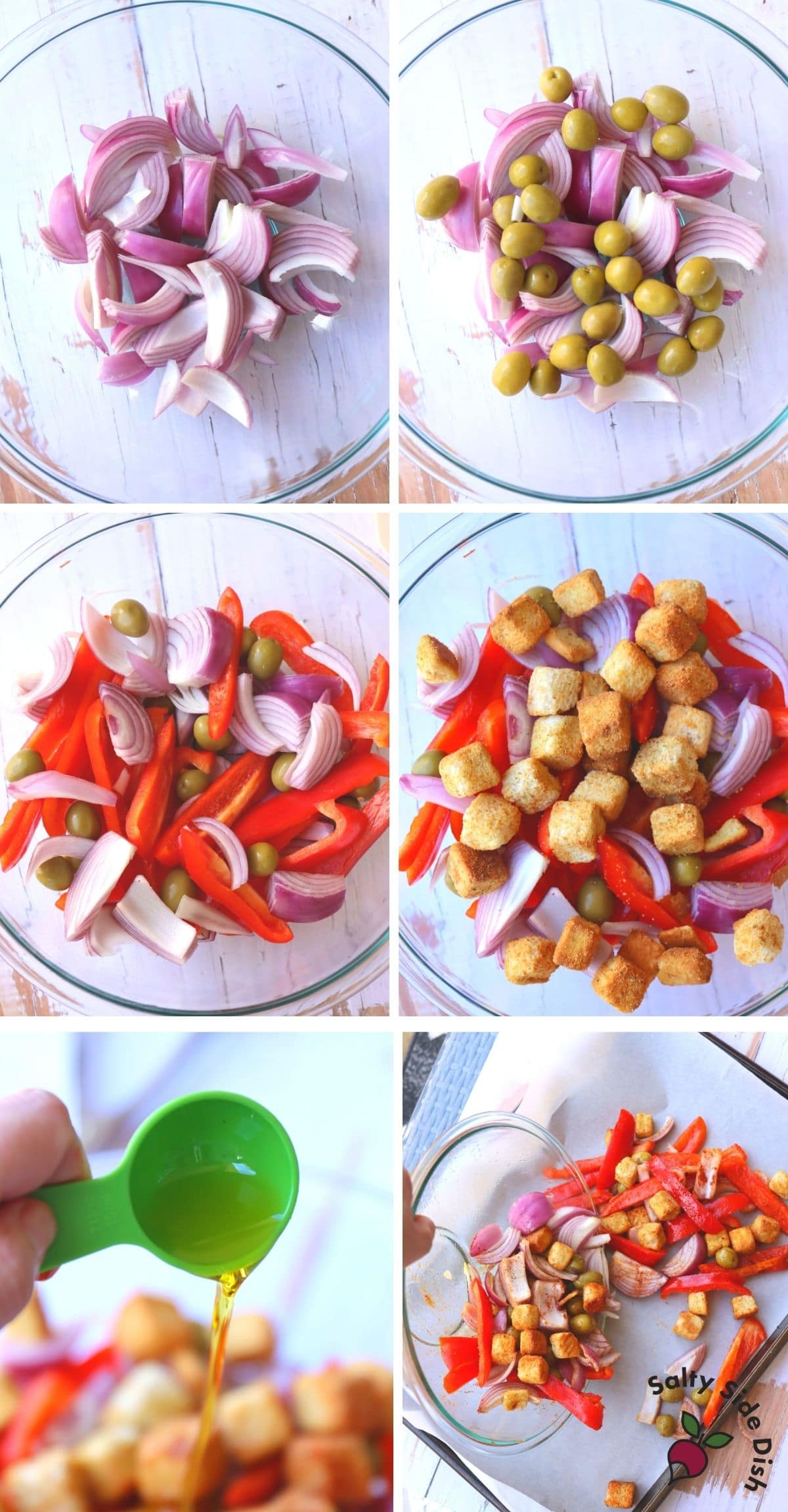Mediterranean vegetables seasoned and drizzled with oil