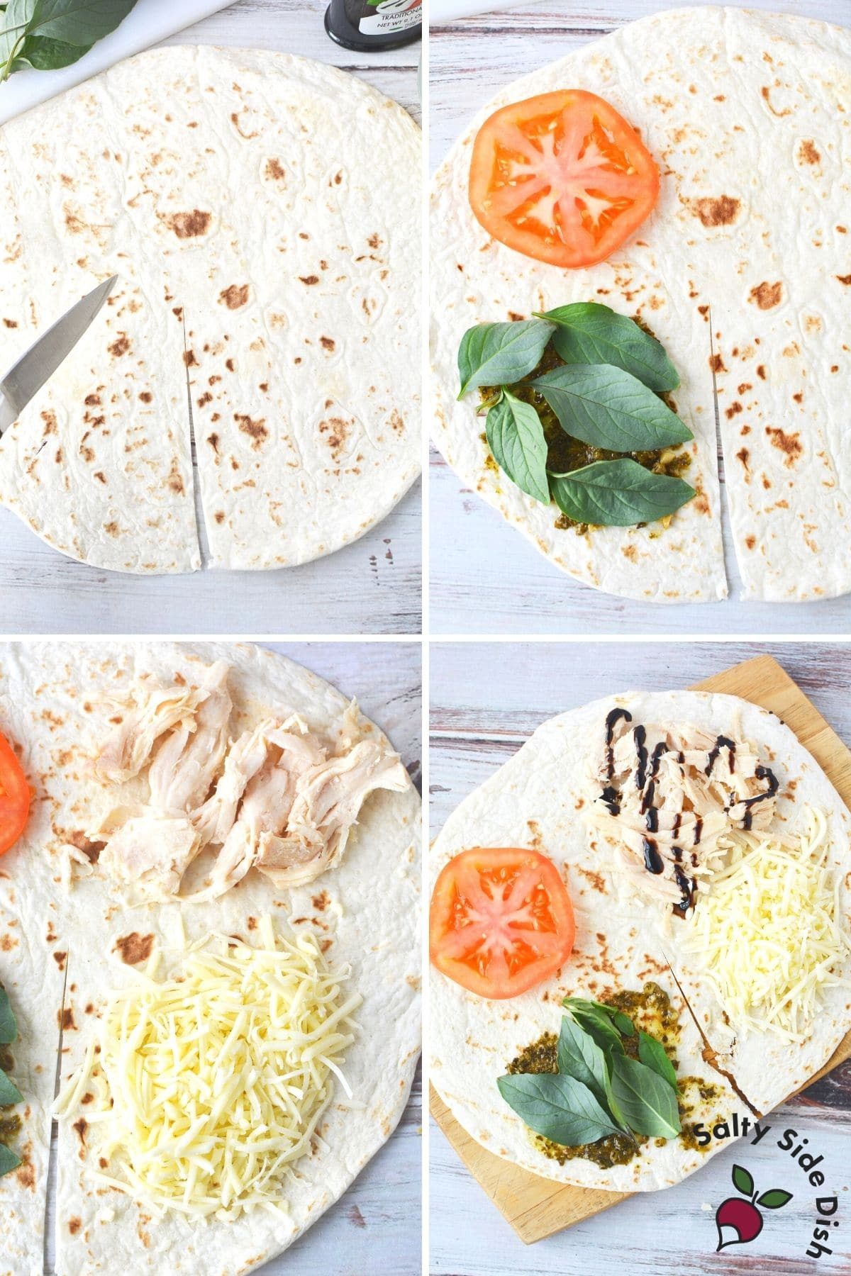 adding all ingredients to tiktok tortilla wrap trend