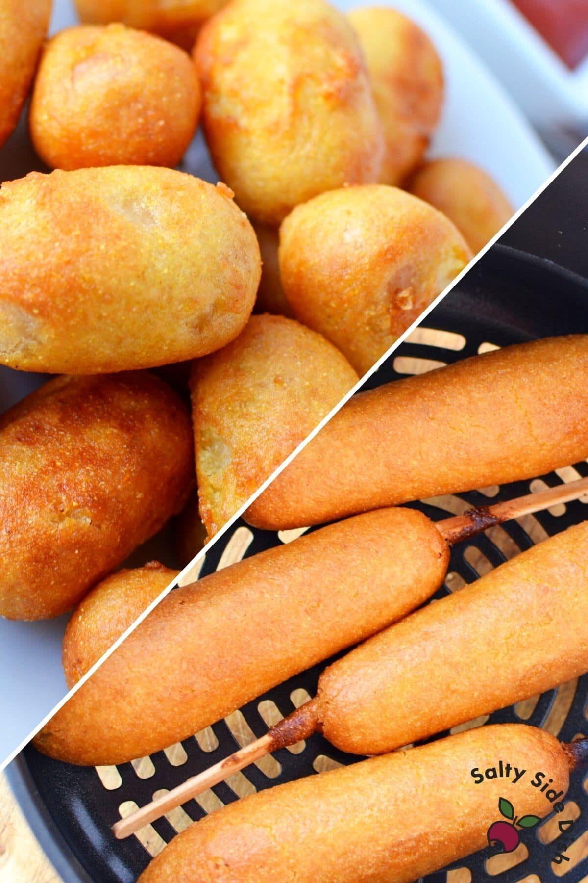 corn dogs made in ninja foodi air fryer
