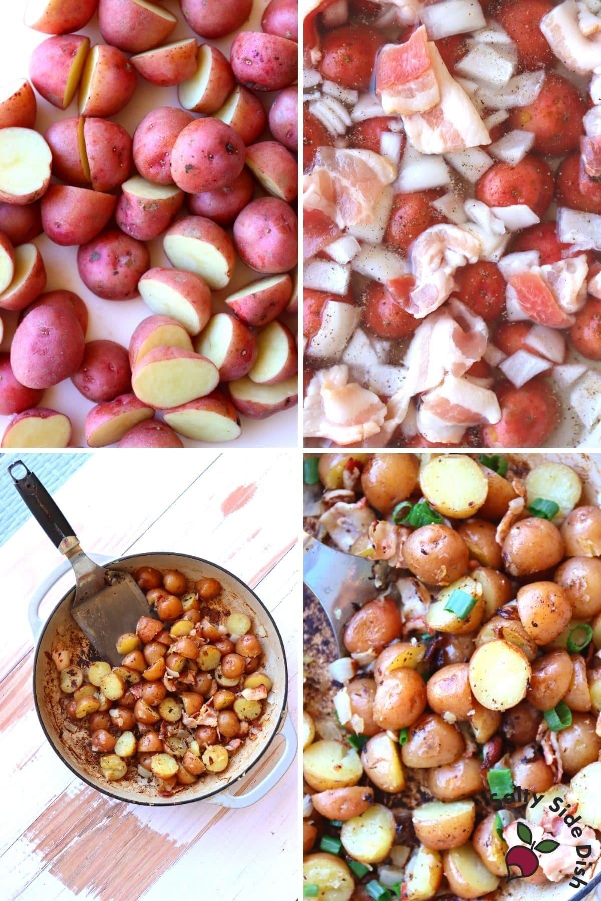 red potato and onions