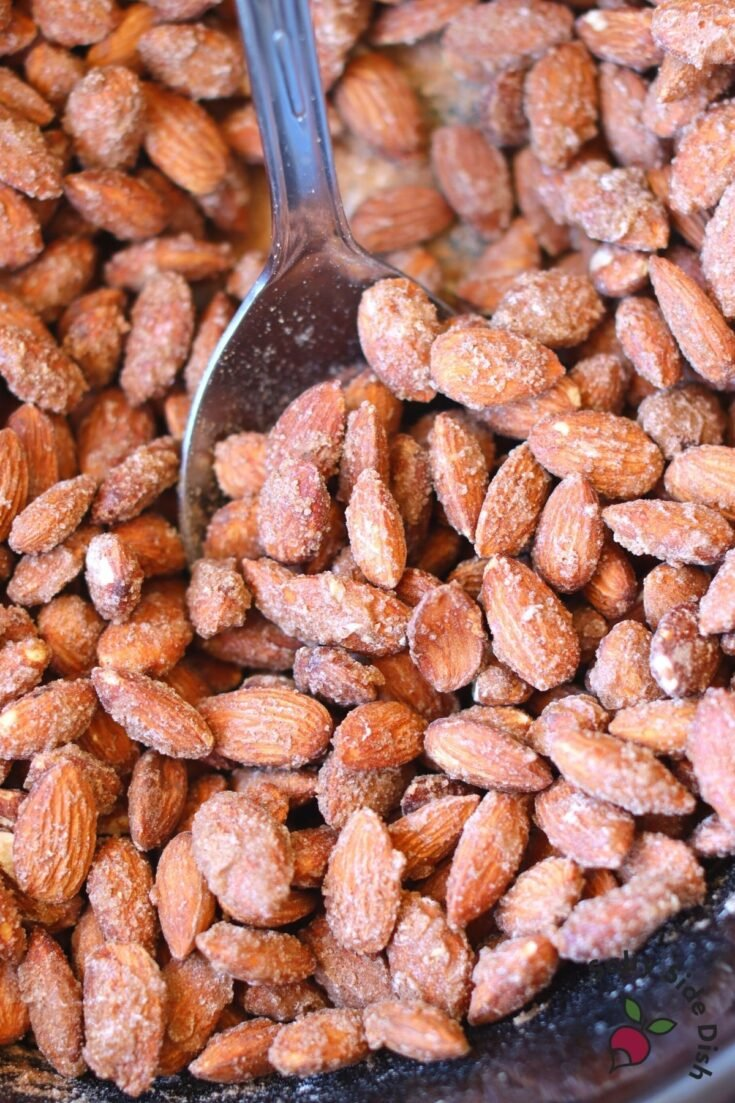 roasted almonds in a slow cooker