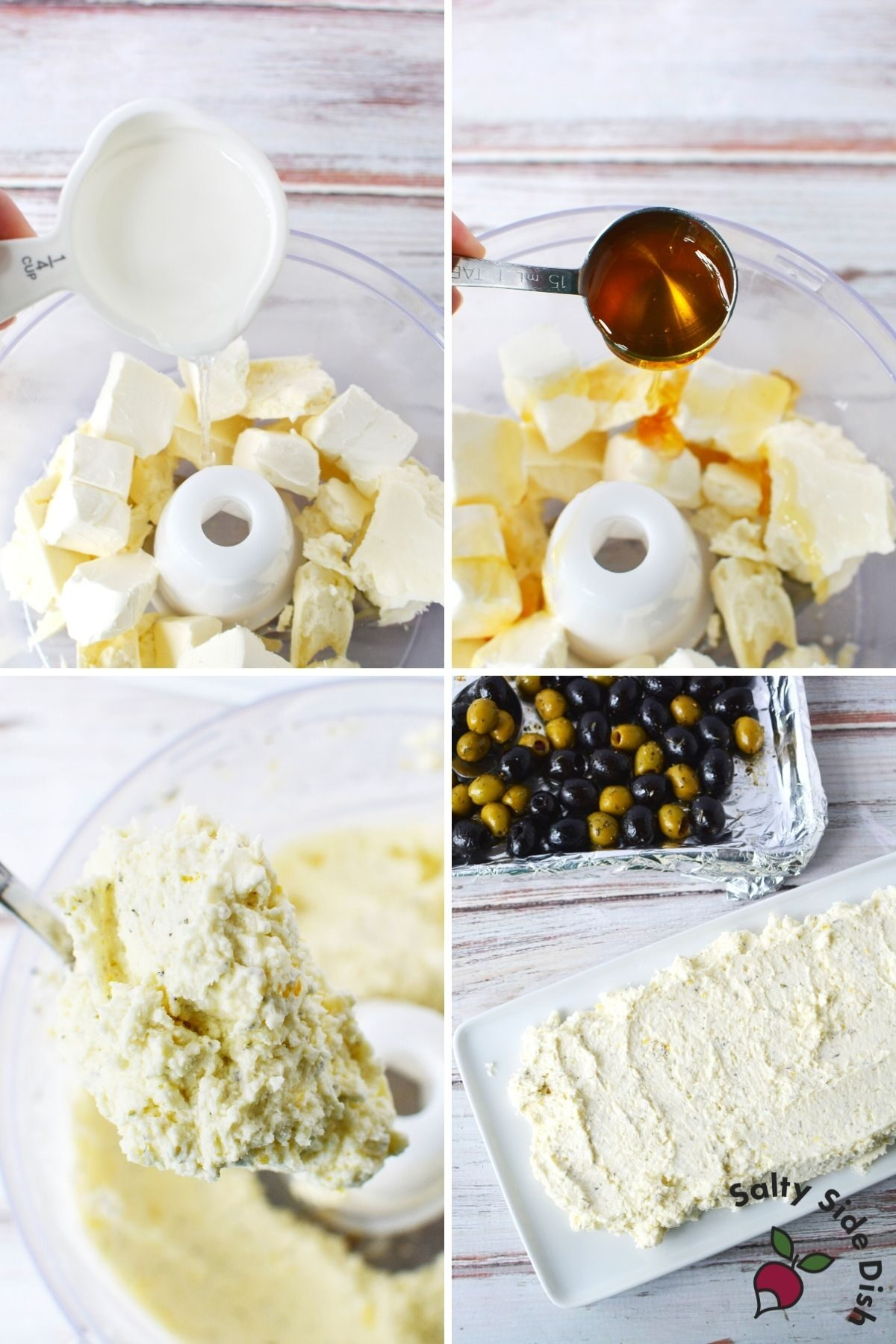 whipping feta dip with honey