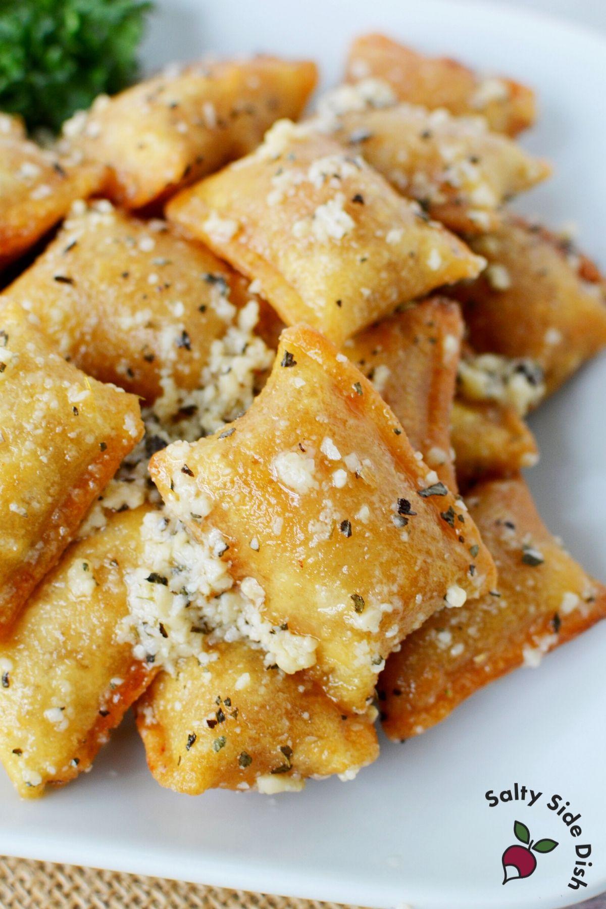 tiktok totino's pizza rolls recipe on a plate