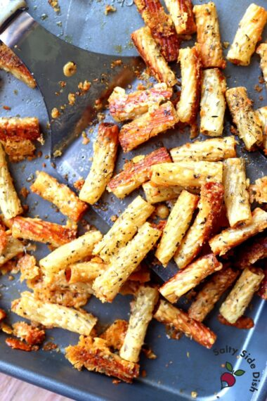 plate full of pasta chips.