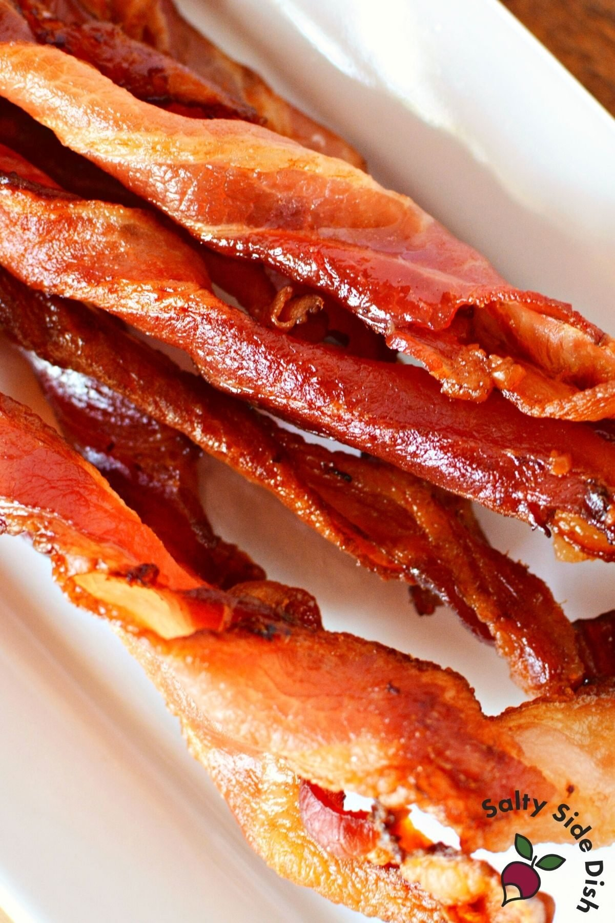 close up of twisted bacon.