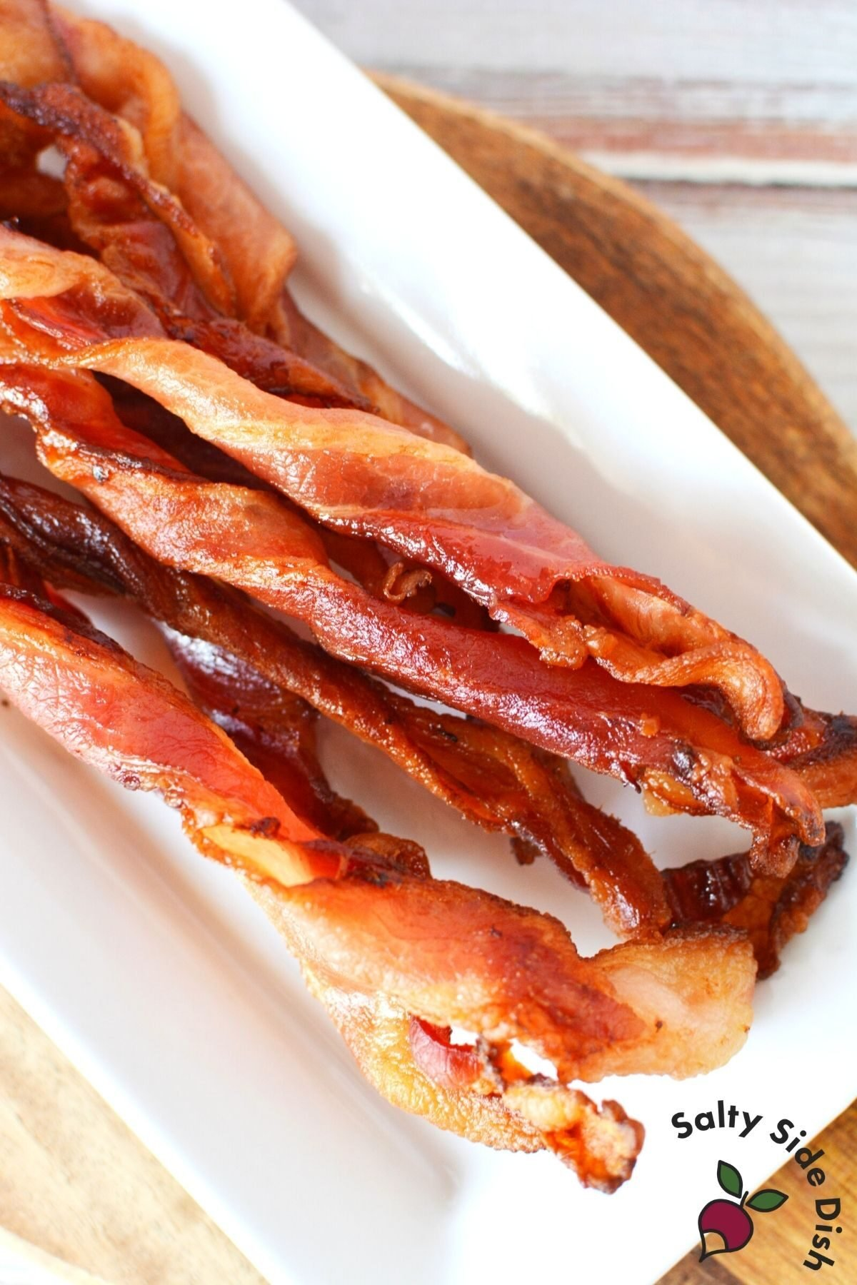 pile of bacon straws on a plate.