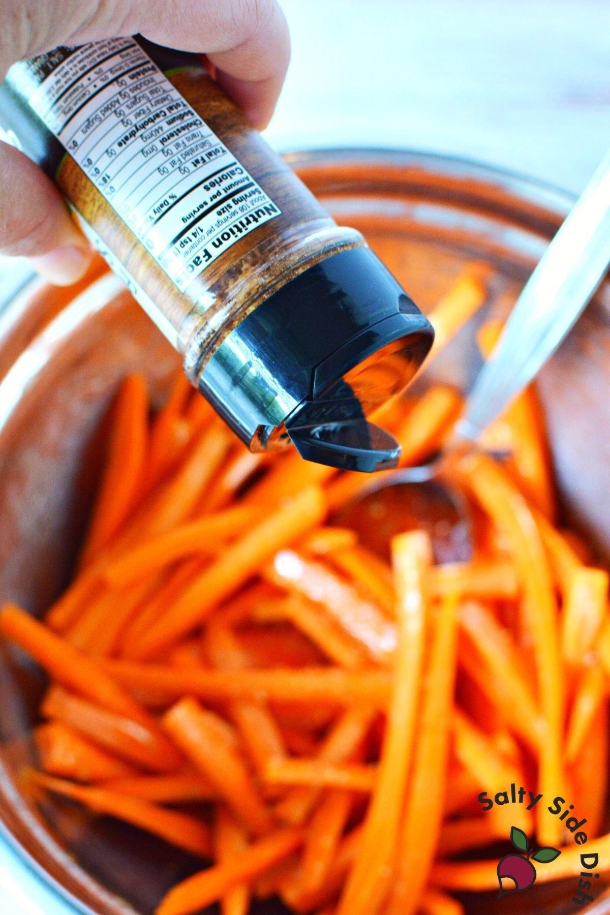 air fries with fry seasoning.