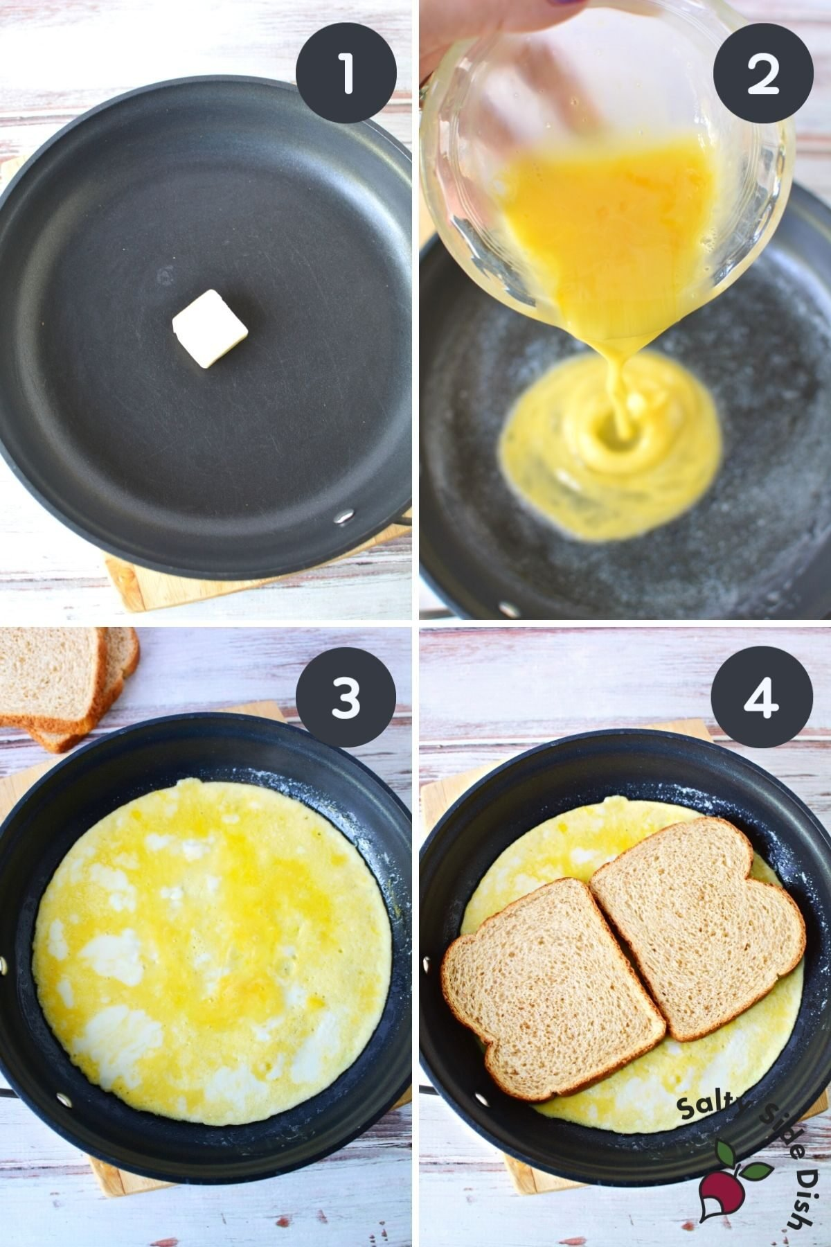 how to make the perfect egg sandwich 4 images.